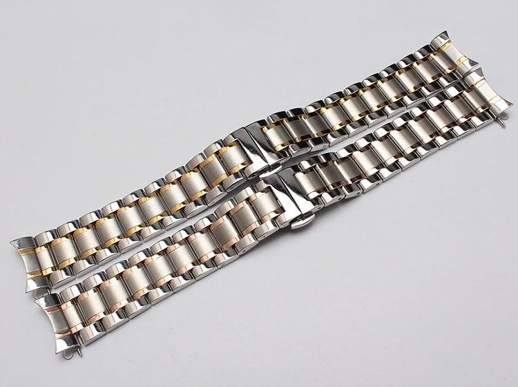 Nyt metalurbånd buede ender sølv & rosegold guldfarve modeur - Tilbehør til ure - Foto 2