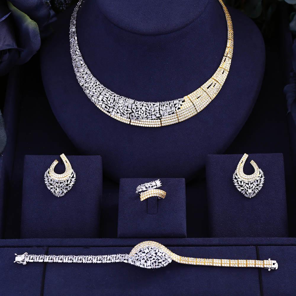 HTB19 KJXInrK1RjSspkq6yuvXXa2 jankelly Hotsale Nigeria 4pcs Bridal Jewelry Sets New Fashion Dubai Full Jewelry Set For Women Wedding Party Accessories Design