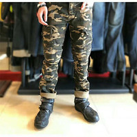 Motorcycle Pants Riding jeans anti fall locomotive Knight Pants camouflage Windproof cross country car suit