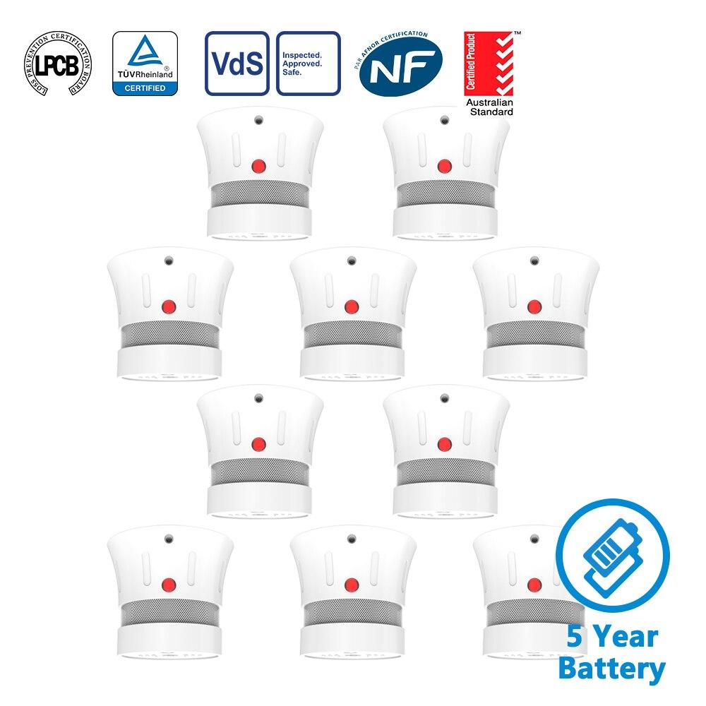 CPVan Smoke Detector EN14604 CE Certified Fire alarm detector 5 Year Battery Operated 85dB rookmelder detector de humo in Smoke Detector from Security Protection