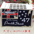 Embroidery iron on patches for clothes Fashion 18.5cm paul & shark cute deal with it clothing DIY Motif Applique Free shipping