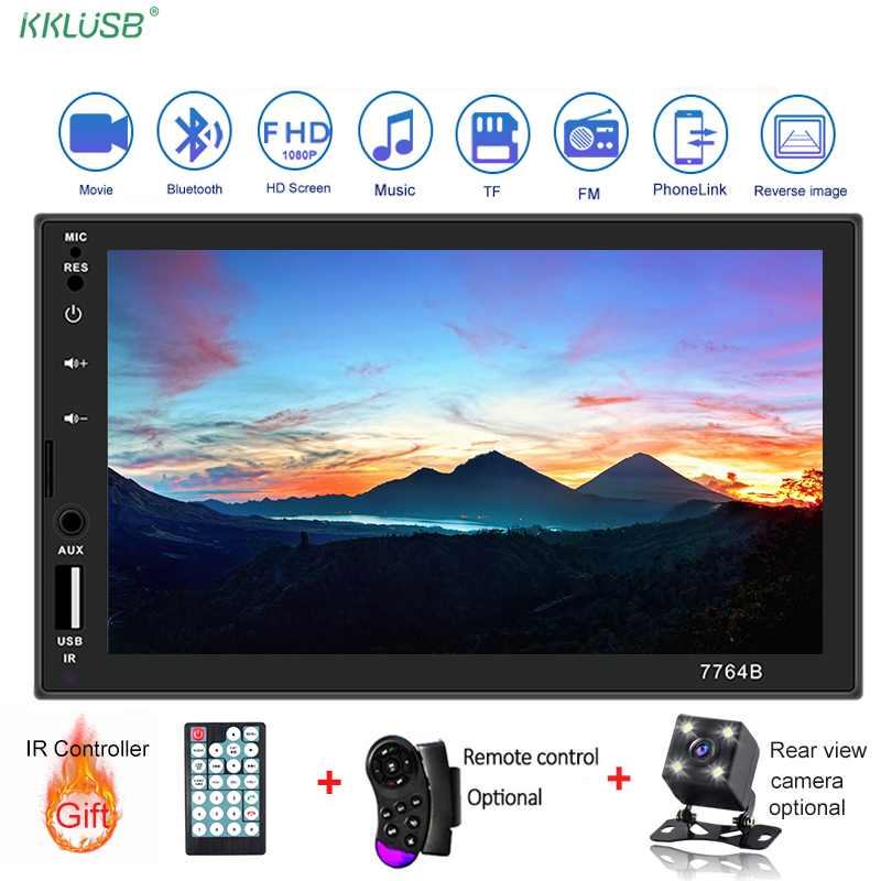 Car Radio 2din 7 Inch Touch Android Mirror Link 2din MP5 Player Autoradio Stereo Bluetooth Rear View Camera Tape Recorder Player