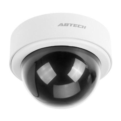 MOOL  2X Top Dummy LED Surveillance Camera Outdoor Dummy Dome CCTV IP Camera White LED Light