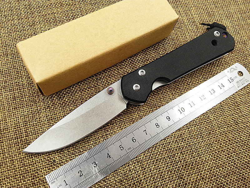 New outdoor camping folding font b knife b font stainless steel blade G10 handle survival pocket
