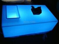 Прямоугольник квадратное отверстие журнальный столик свет Таблица Дистанционное управление мебель для гостиной, роскошный отель КТВ бар т