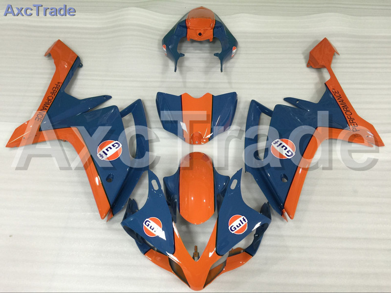 Motorcycle Fairings Kits For Yamaha YZF1000 YZF 1000 R1 YZF-R1 2007 2008 07 08 ABS Injection Fairing Bodywork Kit Orange Blue motoo free shipping for yamaha yzf r1 r1 2007 2008 motorcycle front light headlight upper bracket pairing