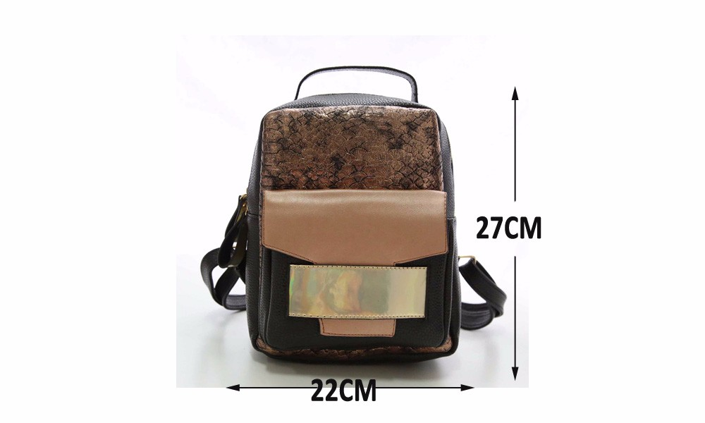 Alligator Female Backpacks Sequined Top-handle Women Bag PU Leather School Bags For Teenagers Bagpacks Herald Fashion New
