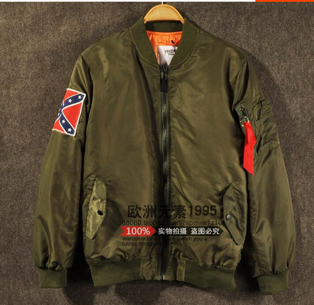 new product 50b10 f9a15 KANYE WEST YEEZUS tour MA1 jackets limit edition black green colors yeezy  flight parkas MERCH BOMBER MA-1 NAVY RED CROSS