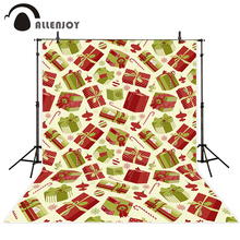 Allenjoy font b camera b font photography children background green red Gifts Christmas winter snowflake a
