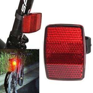 1 Pcs Bicycle Front Rear Reflective Lens MTB Road Bike Automatic Reflectors Cycling Warning Light Bicycle Warning Taillight(China)