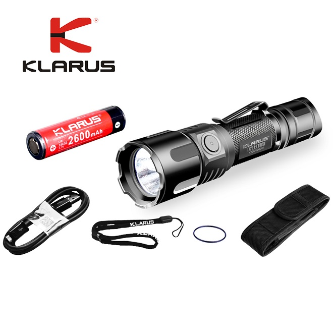 Klarus XT11UV USB Rechargeable Flashlight White light UV light CREE XP-L V3 3* 365nm UV max 900LM with battery charging cable sl 8006 900lm 4 mode white bicycle light