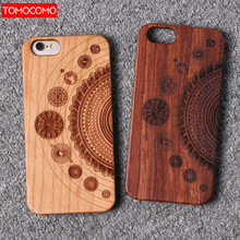 Real Bamboo Stereo Pattern Wood Case For iPhone 7 6Plus 8 8Plus XS Max Case Coqu