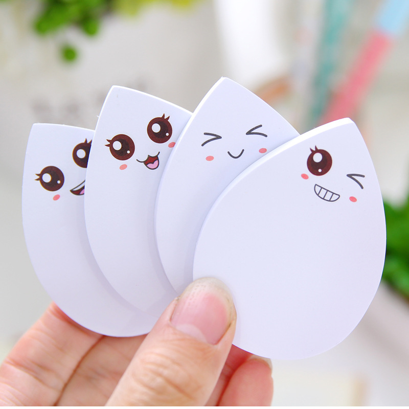 Creative Waterdrop Shape Memo Pad Sticky Notes Memo Notebook Stationery Papelaria Escolar School Supplies Pleasant To The Palate Hard-Working 4 Pcs 70sheets/pc