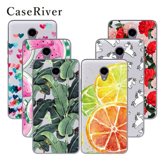 CaseRiver Soft TPU Silicone Meizu M5 Note Case Cover Printed Phone Back Protective Case FOR Meizu M5 Note / Meilan Note 5