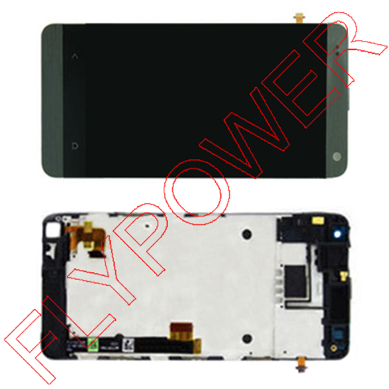 For HTC One Mini One M4 LCD Screen Display with Touch Screen Digitizer Assembly with Frame black by free shipping q55 android 4 4 2 quad core wcdma phone w 4 7 ips 4gb rom wifi gps nfc black