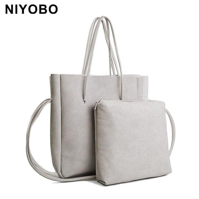 Famous Designer Brand Bags Women Large Tote Vintage Double Handle Women Handbags Two Piece Bag PT1047