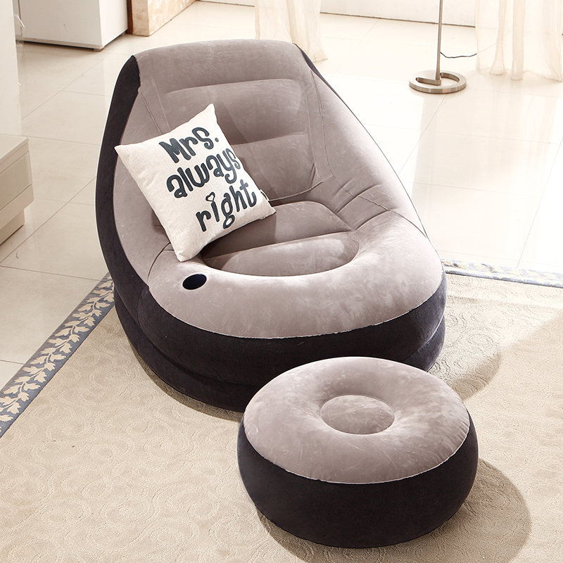 ... EC Wood Gifted Beanbag Single Sofa Bed Bedroom Living Room Napping  Inflatable Recliner Lazy Creative Leisure ...