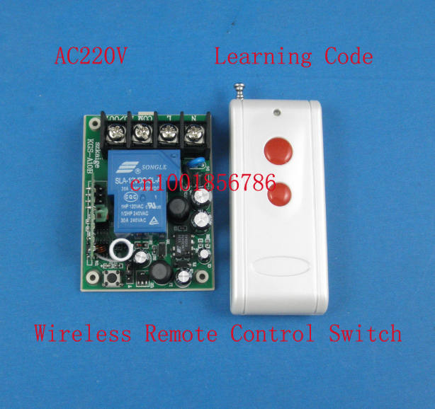 AC85V-280V Wireless Remote Control Switch Receiver Transmitter 20-1000M 3000W Wide Voltage input Full RF Big wiring terminal