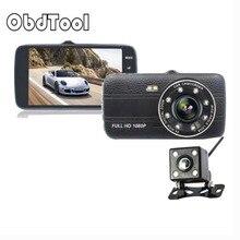 OBDTOOL 4.0 Inch Mini Car Dvr Camera Full HD 1080P Dual Lens Video Recorder X300L G-Sensor