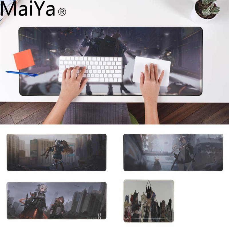 MaiYa Cool New Arknights Comfort Mouse Mat Gaming Mousepad Durable Rubber Mouse Mat Pad