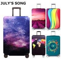 JULY'S LIED Elastische Stof Bagage Beschermhoes, Geschikt 18-32 Inch, trolley Koffer Case Stofkap Reizen Accessoires