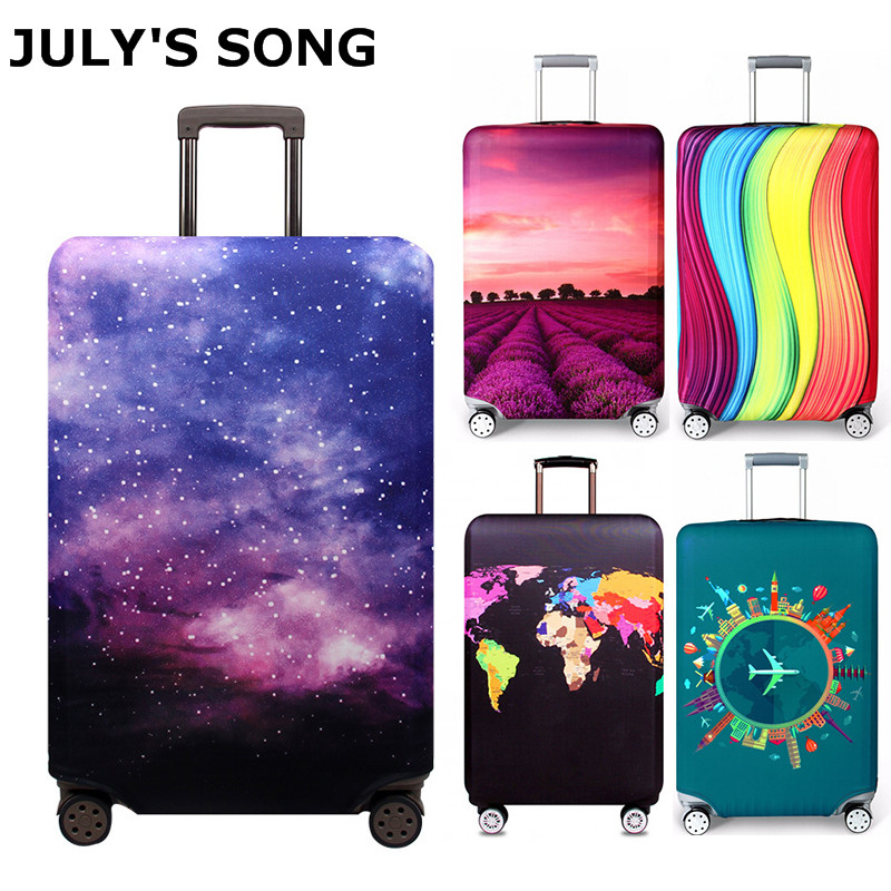 JULY'S SONG Elastic Fabric Luggage Protective Cover, Suitable18-32 Inch , Trolley Case Suitcase Dust Cover Travel Accessories