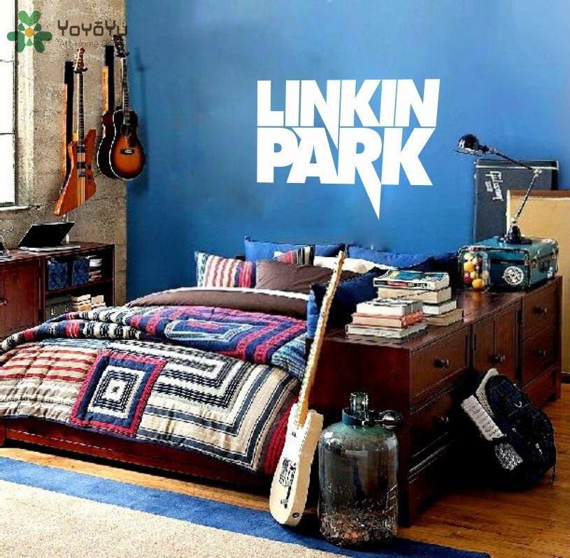 Linkin Park Sticker Célèbre Vinyle Stickers Muraux Musique Bande motif Amovible Garçons Fans Chambre Décor À La Maison Art Mural BRICOLAGE SY282