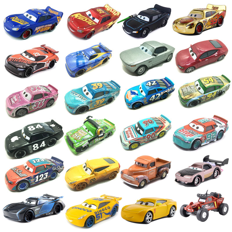 New Disney Pixar Sedan 3 Toy Car McQueen Jackson 1:55 Die-cast Metal Alloy Model Toy Car 2 Children Birthday Christmas Gift