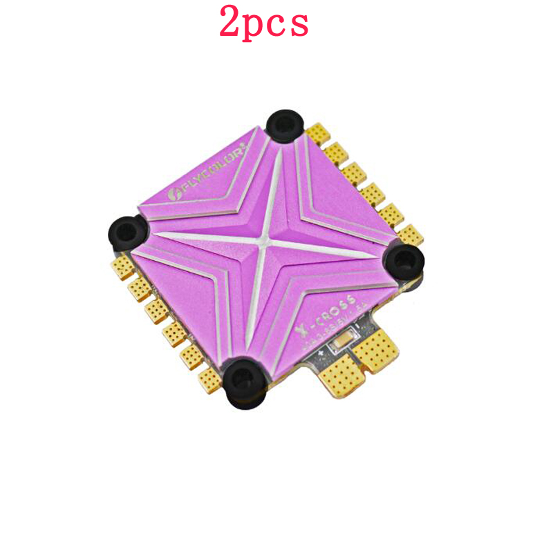 цена на 2pcs Flycolor 4in1 BLHeli32 ESC X-Cross BL-32 3-6S 40A Electronic Speed Controller BEC 5V 1.5A for RC Racing FPV Multi-axle