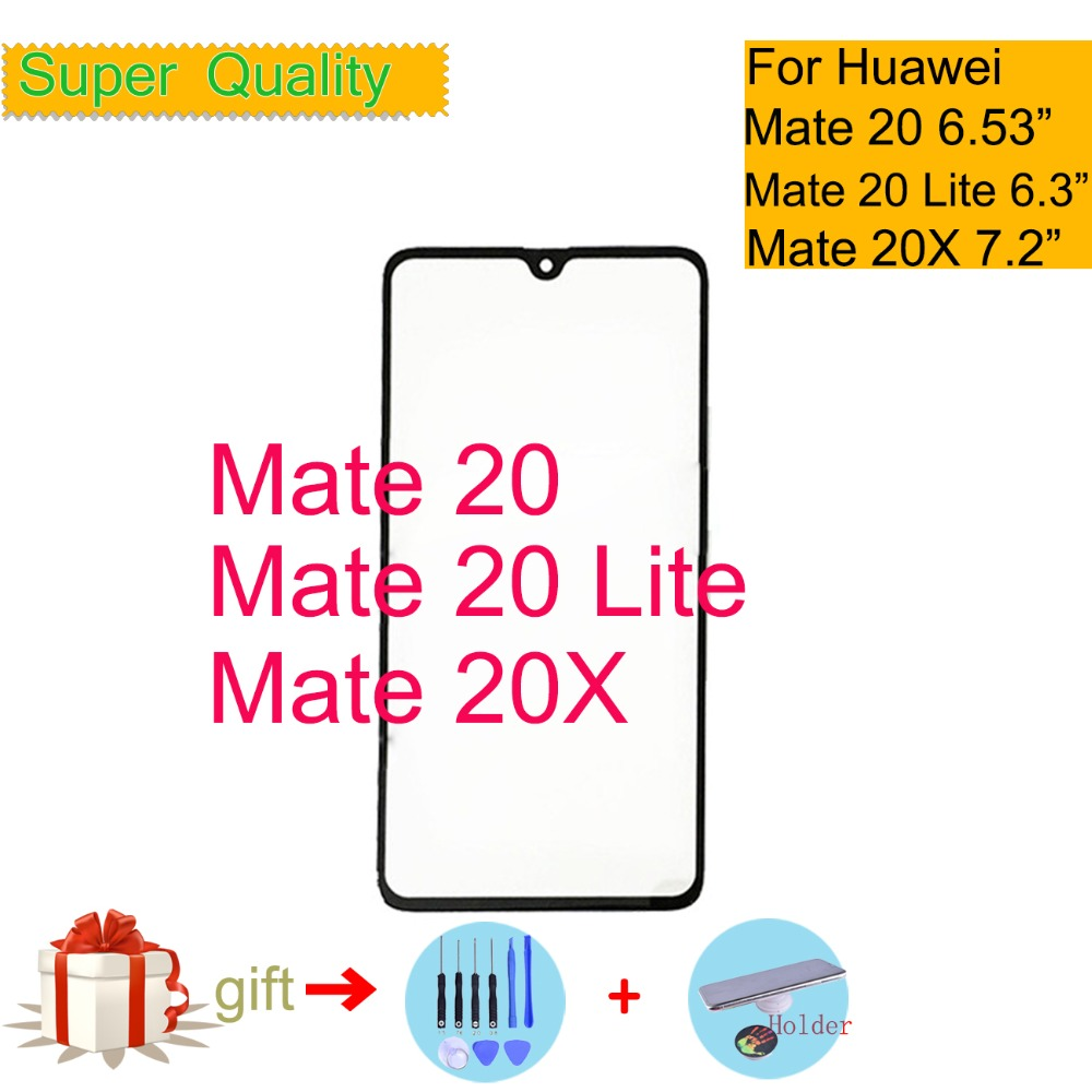 Touchscreen For Huawei Mate 20/M20 Lite/Mate 20X Touch Screen Touch Panel Sensor Digitizer Front Glass Outer NO LCD Replacement