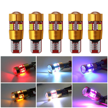 10 pcs T10 W5W 3014 LED Clearance Lights Reverse Lights Parking Bulbs 6W White Yellow Red 27SMD White Blue Ice blue Width Lamp onlitop 1231447 р 30 33 blue yellow red