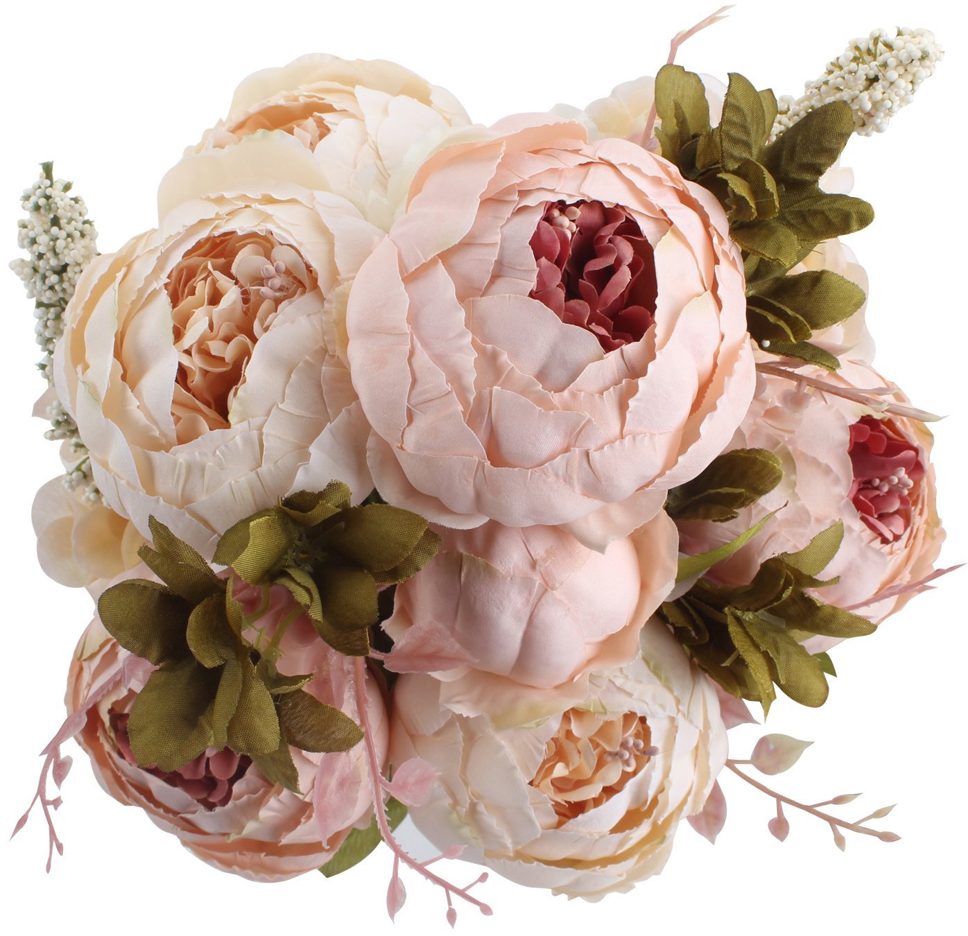 Fake Flowers Vintage Artificial Peony Silk Flower Wedding Home ...