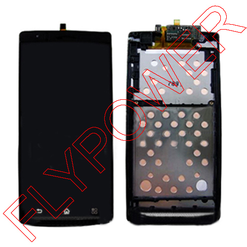 100% New For Sony Ericsson for Xperia Arc X12 LT15i LT18i LCD Display Touch Screen Digitizer With Frame Black  By Free Shipping