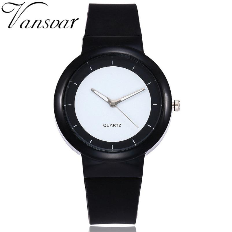 Vansvar  Quartz Wristwatches  Reloj Mujer  Fashion Luxury  Women's Watches Silicone  Casual Analog Wrist   Watch  17DEC18 kids watches children silicone wristwatches doraemon brand quartz wrist watch baby for girls boys fashion casual reloj