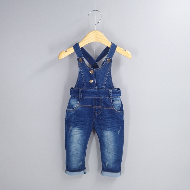 2086c1694791 1-5T Kids Denim Overalls Baby Pants Bebe Clothes Girls Boys Jeans Jumpsuit  Children Rompers Toddler Clothing Baby bib Overalls