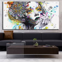 ARTISAN Modern Home Wall Art Girl With Flowers Oil Painting Prints Painting On Canvas No Frame