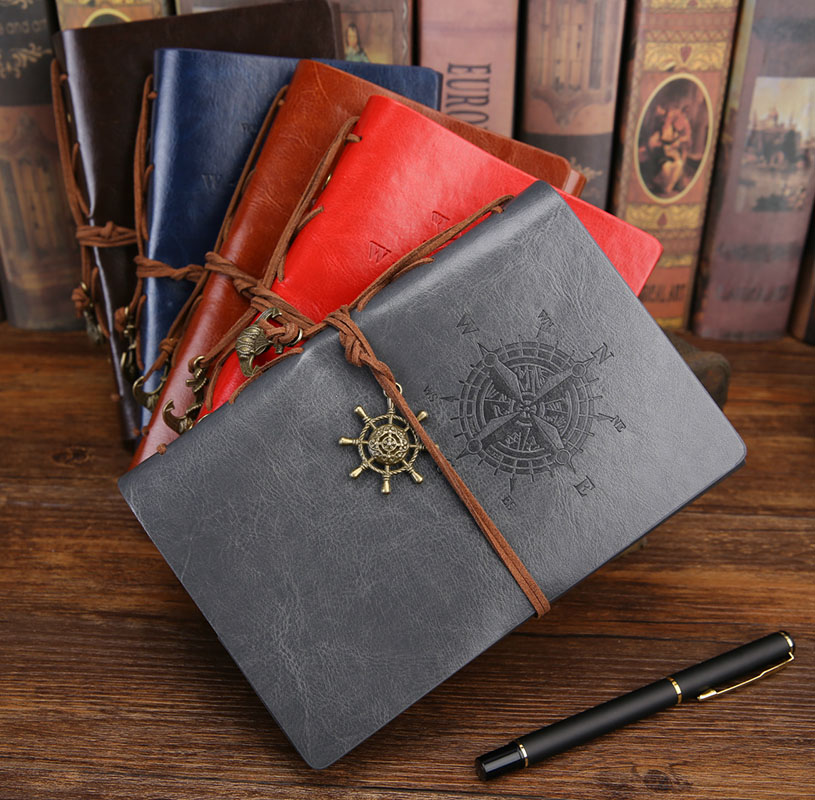 Gift From Furture PU Leather Cover Planner Notebook Diary Book Exercise Composition Binding Note Notepad Gift Stationery A5 A6
