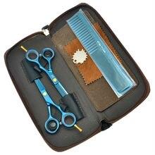 Alta Calidad 5.5 Inch Bule Adelgazamiento Tijeras de Corte de Tijeras de Pelo Tijeras de Peluquería JP440C Salon Barberos Salon Set HA0043
