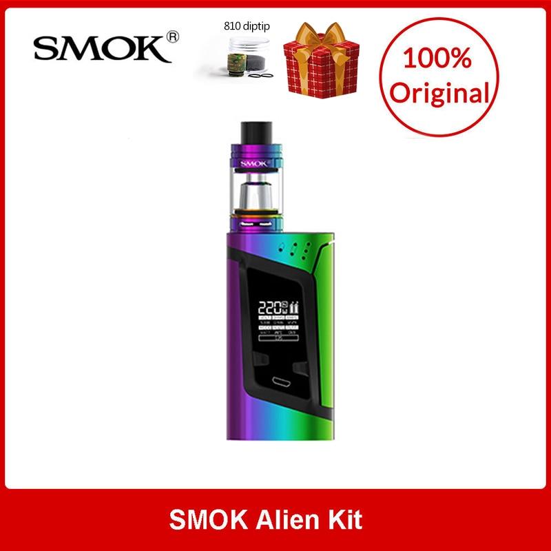 Originale SMOK Alien Kit 220 W con TFV8 Bambino Bestia Serbatoio 3 ml + Q2/T8 Bobine per elettronica sigaretta smok alien kit