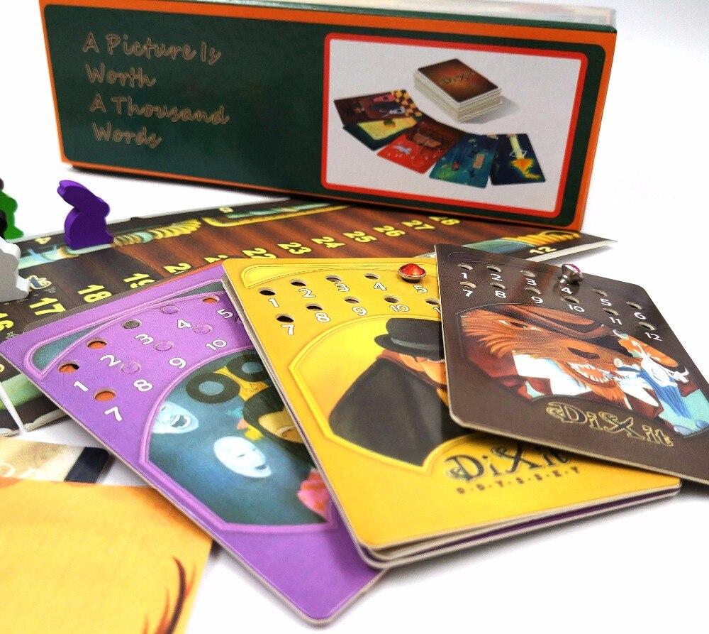 Карты игра Диксит 1 + 2 + 3 + 4 + 5 + 6 + 7 + 8 для дома партия английский и русский правила настольная игра