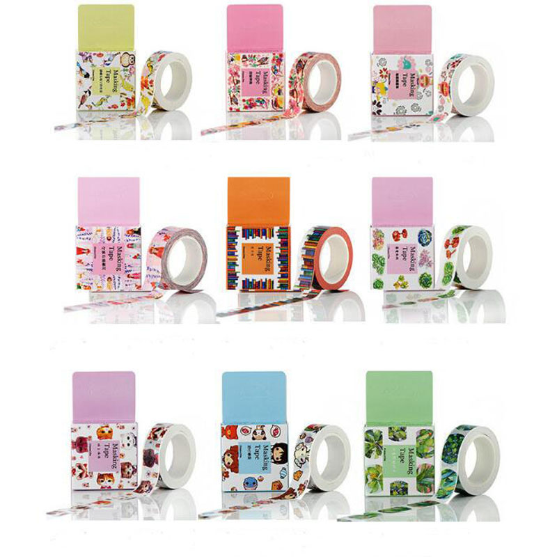 Creative Japanese Washi Tape Multicolor Cartoon DIY Decoration Scrapbooking Planner Masking Tape Adhesive Tape Kawaii Stationery
