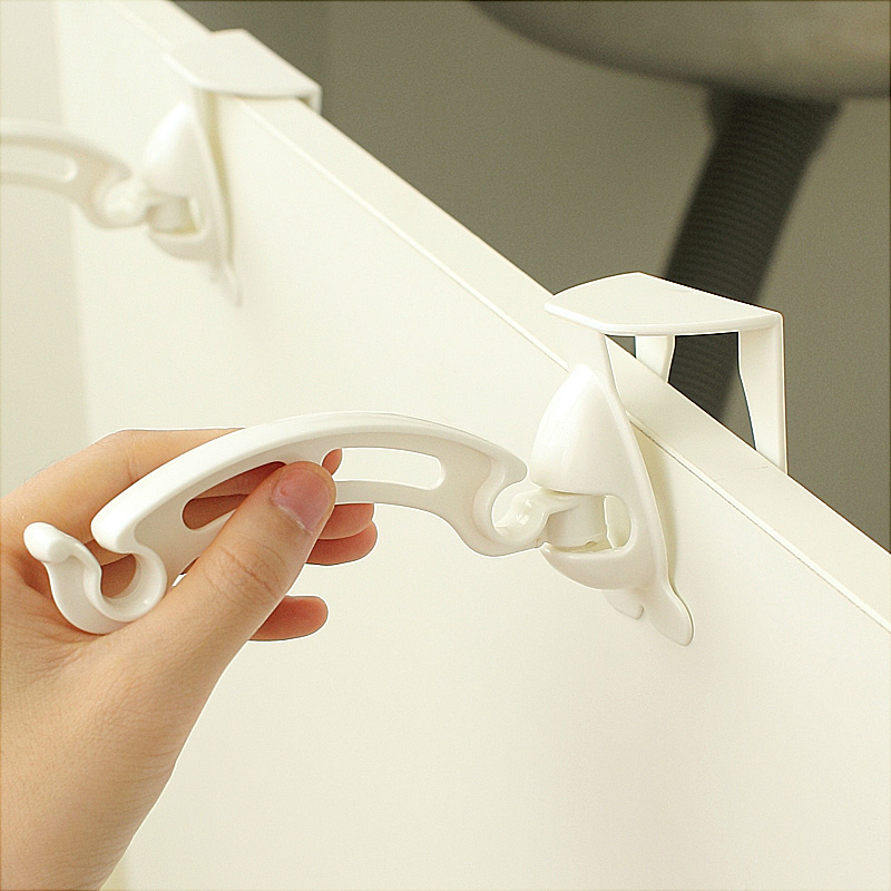 1 Set Kitchen Cabinet Trash Bag Holder Garbage Hanger Cupboard Door Hanging Rack Clips Organizer In From Home Garden On