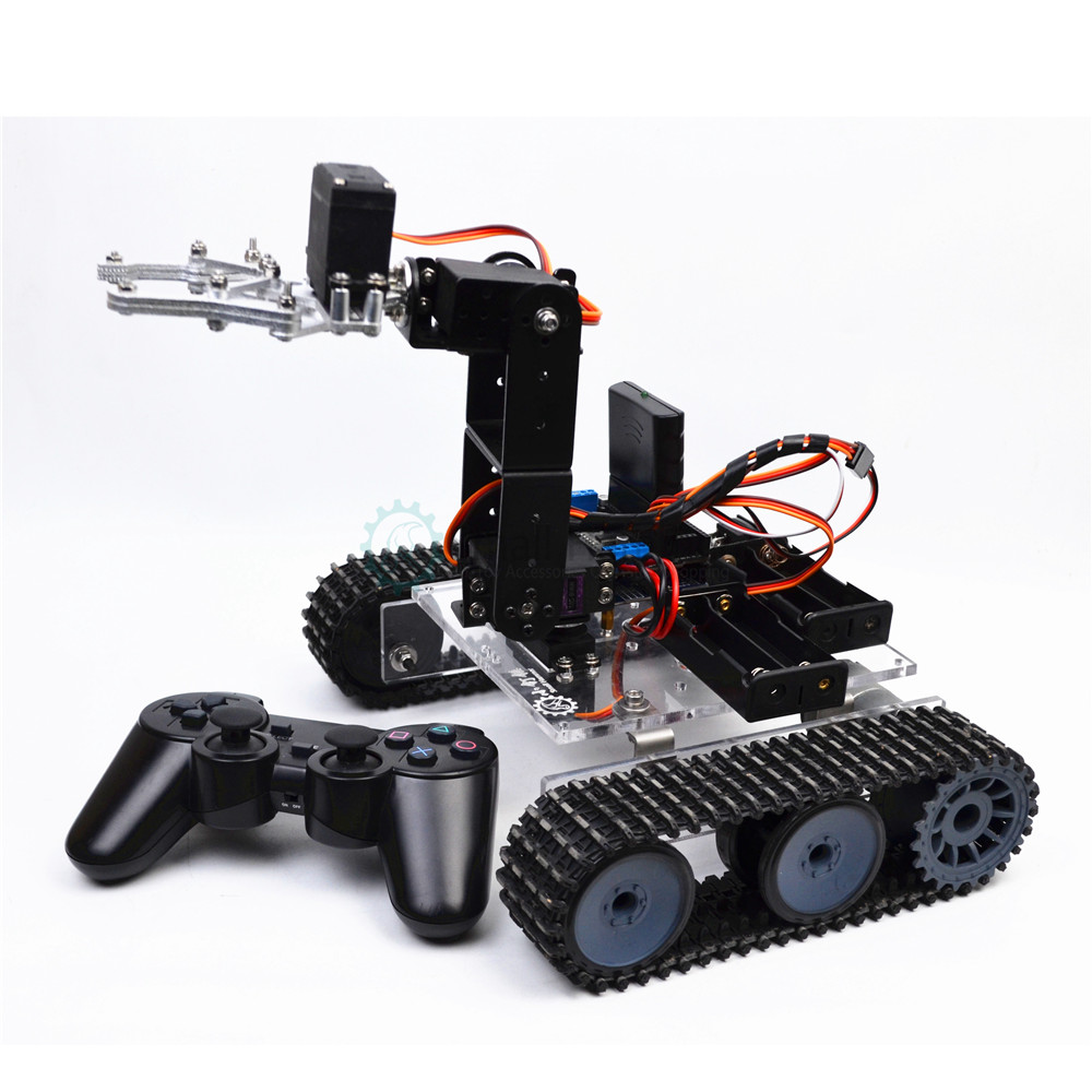 RC robot arduino acrylic <font><b>tank</b></font> robotic 4DOF arm DIY assembly kit image