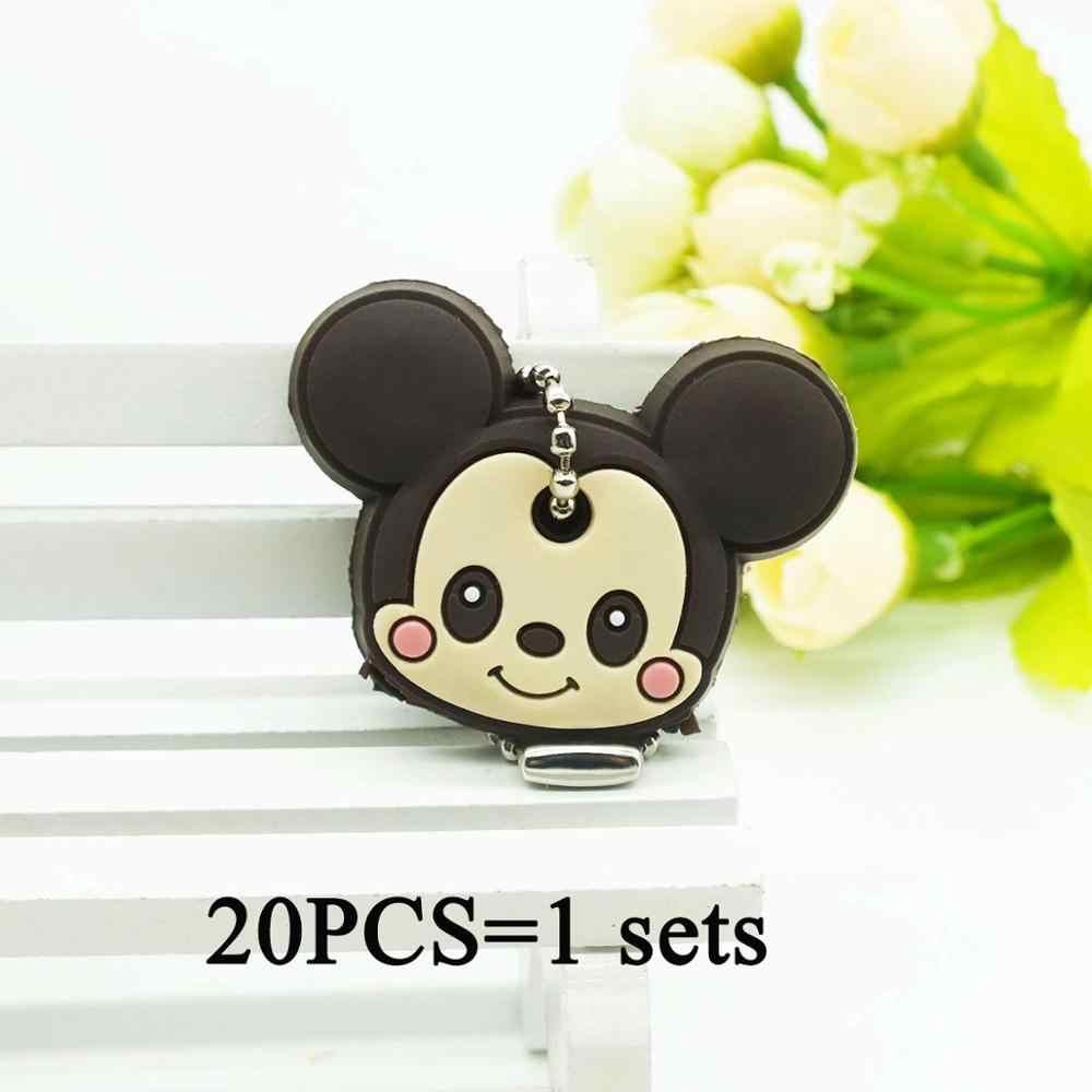 20 PCS um conjunto muito Keychain Dos Desenhos Animados do Animal do urso urso Batman Crianças Carro Chaveiros chaveiro Minnie Anime panda Keycover
