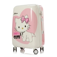 20 24 inch KT cat luggage Kid's Travel Children Hello Kitty Trolley Luggage Suitcase