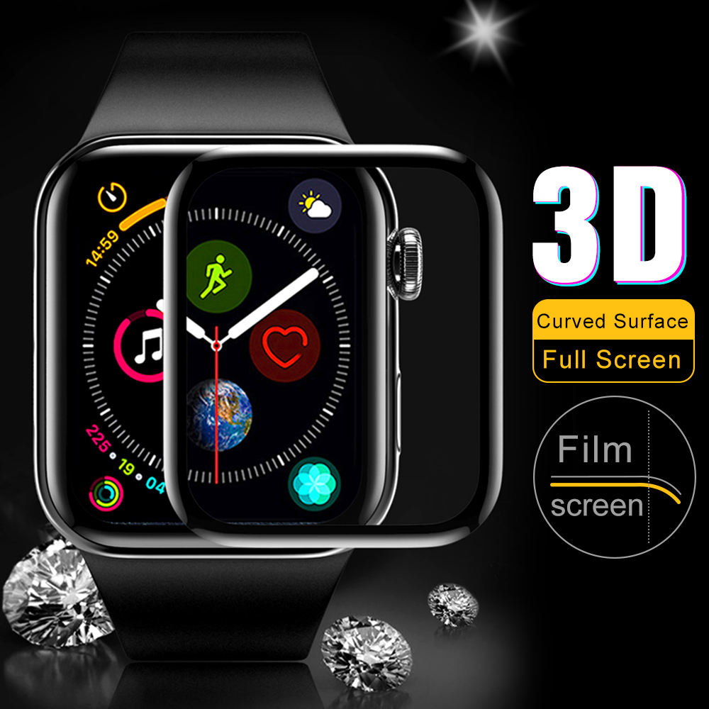 For IWatch Series 1/2/3/4 9H 3D Curved Full Cover Tempered Soft TPU Glass Screen Protective Film For Apple Watch 38/ 42/40/44mm