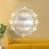 Decorative mirror sticker paste 3d diy mirror wall sticker for makeup desk living room wall decor home decor wall art Furniture