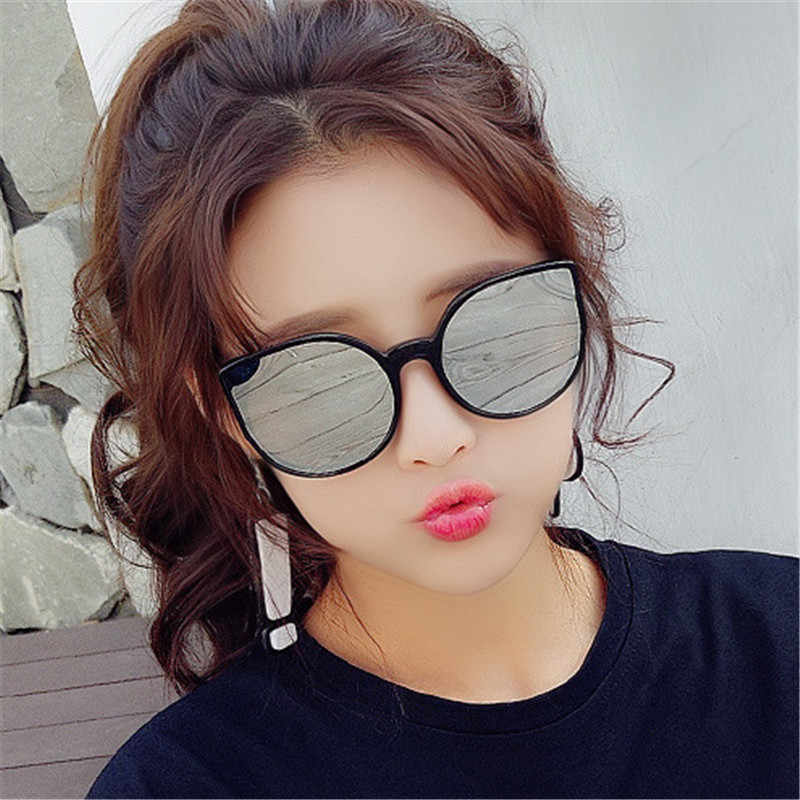 GUANGDU Large Frame Cat Eye Shade For Women Fashion Sunglasses Brand Woman Vintage Retro Oval Glasses Oculos Feminino Glasses