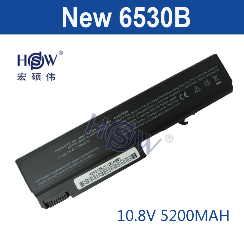 HSW 6cell laptop Battery for HP 6530B EliteBook 6930p 8440p 8440w Business Notebook 6500b 6530b 6530s 6535b 6730b 6735b bateria generic new black laptop us keyboard for hp compaq 6530b 6535b series replacement parts