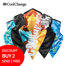 цена на CoolChange Cycling Bandana Summer Outdoor Sports Scarf Bike Triangle Headwear Ride Neck Mask Bicycle Headband Scarf Equipment